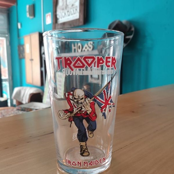 Eddie the Head Pint Glass